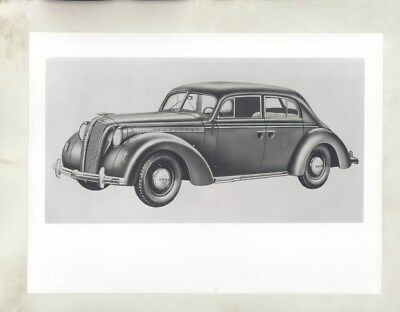 1938 1939 Opel Admiral ORIGINAL Factory Photo & Press Sheet wy5316