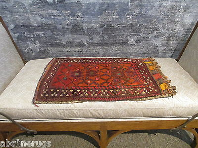 "2'4""x3'1"" Decorative Pillow Cover Wall/Sofa Hanging Hand-knotted Wool Rug 581058"