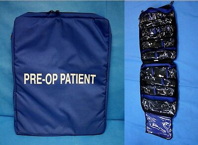 "Iron Duck Pre-Op Patient Medical Hanging Bag 11 Pockets U.S. 50x19"" EMT New"