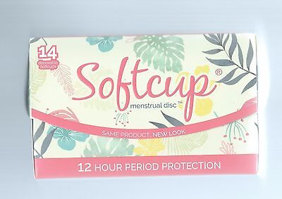 SOFTCUP DISPOSABLE MENSTRUAL PERIOD CUP  Box of 14 Softcups