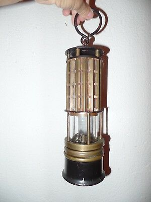 Old Antique WOLFS LAMP MINERS LANTERN Kerosene Hanging Lamp Camping Germany