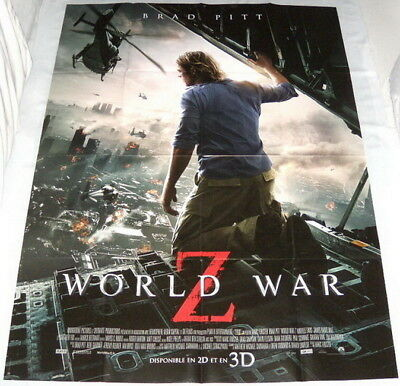 WORLD WAR Z Brad Pitt Zombies Marc Forster LARGE French POSTER