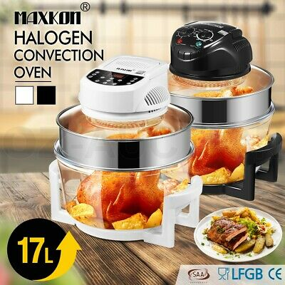 Halogen Oven 17L Turbo Low Fat Roaster Convection Cooker Electric Air Fryer