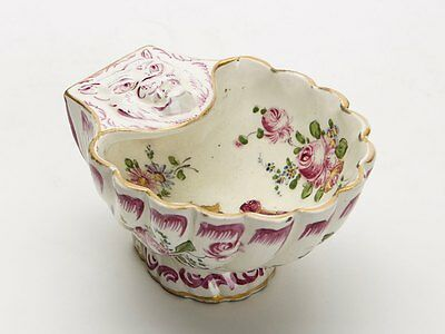 Antique French Marseilles Faience Crested Salt 18/19Th C
