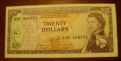 East Caribbean States ND 1965 $20 Note P15