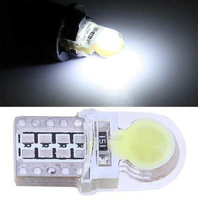 10pcs/set 12V T10 W5W Bulb White LED Lamp COB Silicone Shell Car Turn Side Lamp