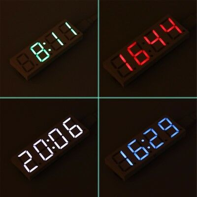 DS3231 Electronic DIY 0.8 inch LED Clock 4 Digit Display 5V Mciro USB Car Clock