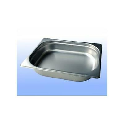 2/1 GASTRONORM 20mm DEEP BAIN MARIE STAINLESS FOOD CONTAINER GN PAN TRAY E0