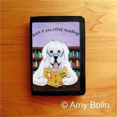 GREATER PYRENEES  Dog TRI FOLD WALLET by Amy Bolin DOG TAILS VOL#2