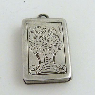 Early 19Th Century Silver Miniature Chatelaine Vinaigrette Of Book Form
