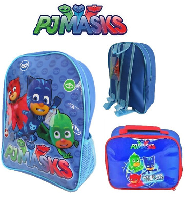 Disney PJ Masks Hero Catboy Gekko Blue Zip Backpack Rucksack Or Lunch School Bag
