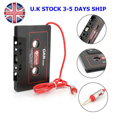 Car Audio Tape CASSETTE ADAPTER nano 3.5mm JACK AUX Cable For Radio Phone MP3 EP