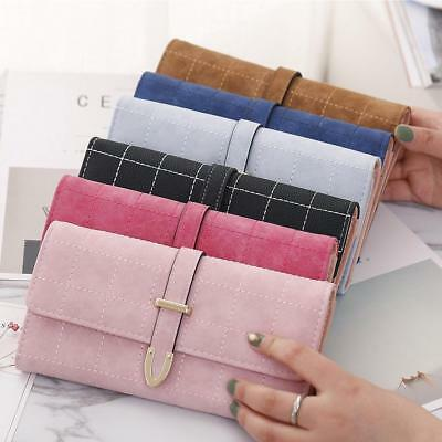 Fashion Women's Bifold PU Leather Wallet Clutch Purse Lady Long Handbag