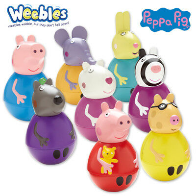Weebles Official Peppa Pig Figures George Suzie Rebecca Zoe Emily Danny Pedro