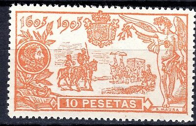 """(229) MOUNTED MINT 1905 SPAIN """"DON QUIOXTE"""" 10pta SG316. with small hinge thin"""