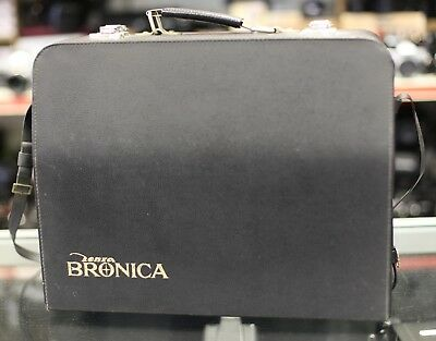 Bronica Outfit Case for Bronica S type. Black Leather. Nice Condition