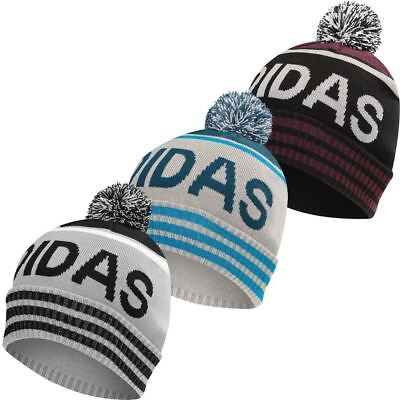Adidas Mens Pom Golf Beanie Winter Bobble Hat