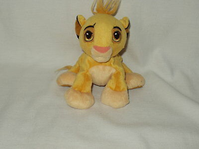 "SIMBA disney store Lion King 6"" stuffed bean bag character figure toy  GUC"