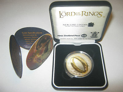 2003 New Zealand Lord of The Rings $1 Silver Proof Dollar Coin STERLING GEM!