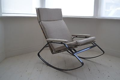 Stunning Vintage William Plunkett Metal Reigate Rocking Chair