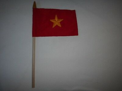 Vietnam War VC North Vietnamese Army Small Size Flag For Group Meetings