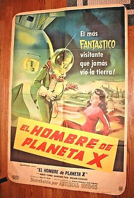 The man from Planet X (Spanish Version) Vintage Original Movie Poster 1951