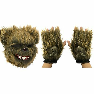 Scary Evil Zombie Ted Killer Bear Furry Bunny Halloween Fancy Dress Costume Mask