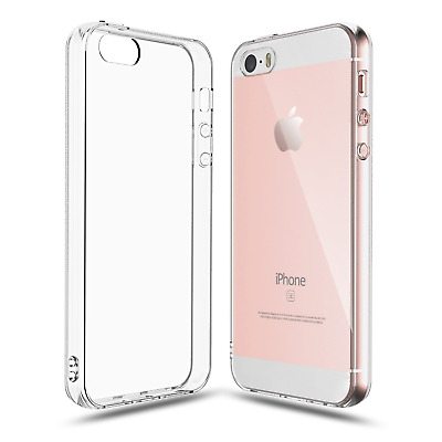 For iPhone SE / 5 / 5s Clear Transparent Case Shock Absorption TPU Soft Cover