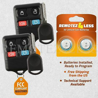 2 for 2005 2006 2007 2008 2009 2010 2011 2012 2013 2014 Mustang Remote Car Key