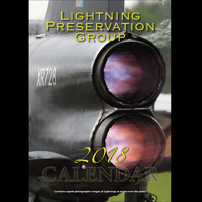 English Electric Bac Lightning Aviation A3 Aircraft Calendar 2018 Lpg.