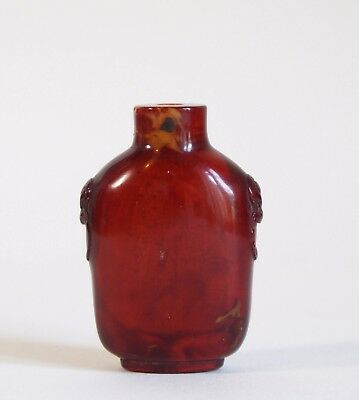 Fine antique Chinese 19th century amber snuff bottle