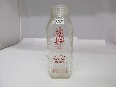 Vintage Silvis Farms Best For Babies Milk Bottle   G-104
