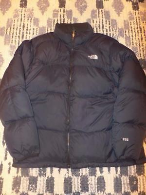 Men's The North Face 550 Goose Down Fill Winter Jacket Coat Black XXL