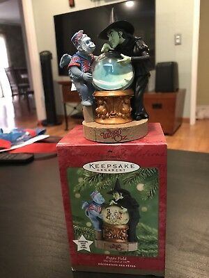 2001 Hallmark Ornament The Wizard Of Oz Poppy Field Changing Light And Scenes