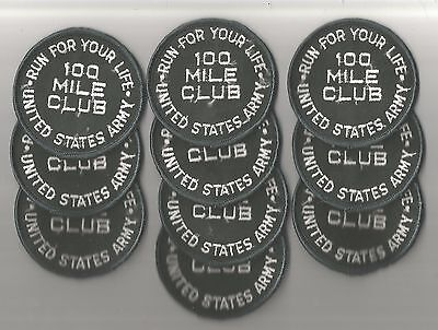 Lot Of 10 -  100 Mile Run For Your Life  U.s. Army Patches(M/p 1608)