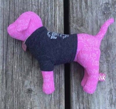 NWOT Victoria's Secret Pink Mini Dog Pink & Blue
