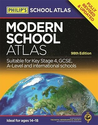 Philip's Modern School Atlas: 98th Edition (Philip's School Atlases) (Paperback)