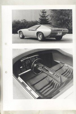 1970 Opel CD Concept ORIGINAL Factory Photograph wy5391