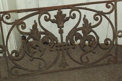 Antique Cast Iron Floral Victorian Window Cover Grill Architectural Salvage Recl