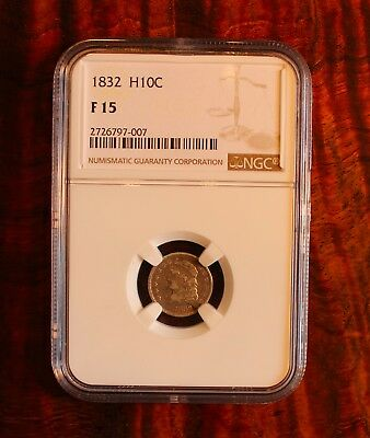 1832 Caped Bust Half Dime US Coin NGC F 12 Rare .05