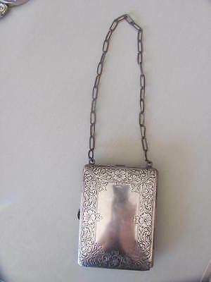 Art Nouveau German Silver Coin Purse Compact