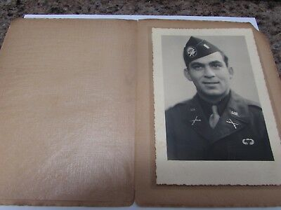 "WWII U.S. Army airborne officer photo size 4-1/2"" x 6-1/2""."