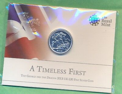 £20 Silver Coin 2013 --George And The Dragon