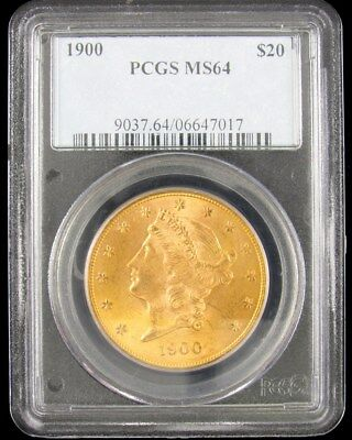 1900 Liberty Head $20 Gold Double Eagle - PCGS MS64 - Certified & Graded 22K