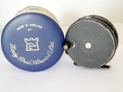 """Vintage HARDY 3 1/8"""" THE """"PERFECT"""" FLY FISHING REEL BRITISH w/ LINE & CASE FWO"""