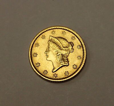 ( 1 ) 1852 $1 Gold Coin - Type 1 - Lot# G53