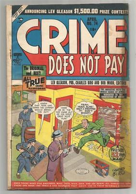 Crime Does Not Pay #74, Apr. 1949