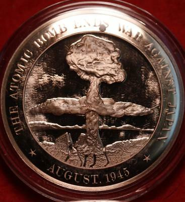 Uncirculated Franklin Mint .999 Bronze 1oz Round Atomic Bomb Free S/H