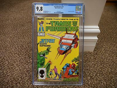 Transformers 11 cgc 9.8 1st appearance of Jetfire 1985 Marvel movie WHITE pgs NM