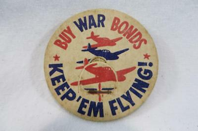 Vintage Milk Bottle Cap Buy War Bonds Keep'em Flying!